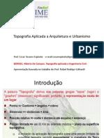 Topografia Aplicada a Arquitetura e Urbanismo Aula 1