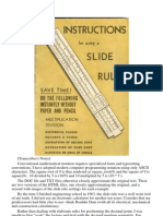 Instructions for the use of a Slide Rule