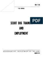 Fm 7-40 Scout Dog Training and Employment 1973