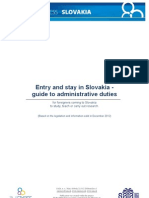 Entry and stay in Slovakia - guide to administrative duties