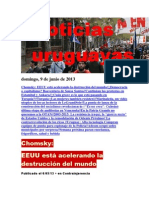 Noticias Uruguayas Domingo 9 de Junio Del 2013