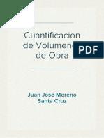 Cuantificacion de Volumenes de Obra