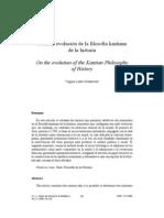 La evolución de la filosofía de la historia de Kant