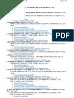 Optics Journal List