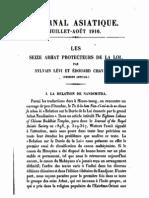 Sylvain Lévi & Edouard Chavannes - Les 16 Arhats Protecteurs de la Loi (Journal Asiatique 1916)