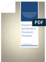 Scope Requirements Template