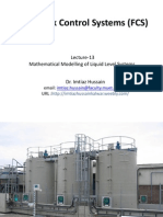 Lecture 13-Mathematical Modelling of Liquid Level Systems