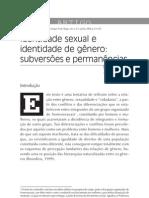 Identidade sexual e identidade de gênero