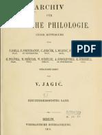 Archiv für slavische Philologie 31