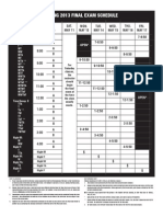RC Spring 2013 - Finals Schedule
