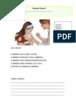 Texto Menina q Leva Vacina 25-4-13
