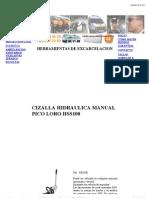 Cizalla hidraúlica manual de NIKE HSS100