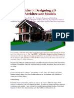 Tips & Tricks in Designing 3D Building Architecture Models