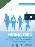 Executive Briefing - Hiring Risk