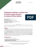 COMPOSIÇÃO CORPORAL E APTIDÃO FÍSICA futebol