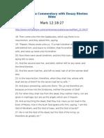Mark 12 18-27