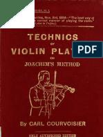 Technics of Violin Playing