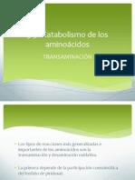 5.3 CATABOLISMO DE AMINOÁCIDOS