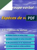 C2 Espèces de verbes