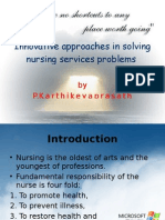 Innovative Approaches in Solving Nursing Services Problems- Latest