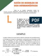5.4 APLICACIÓN DE MODELOS DE INVENTARIOS DETERMINÍSTICOS