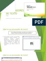 Procesadores de Texto - Word