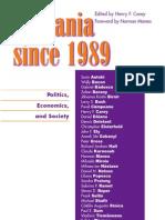 Henry F. Carey-Romania Since 1989 Politics, Economics, And Society(2004)