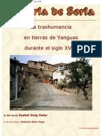 Historia de Soria. La Trashumancia en Tierras de Yanguas Durante El Siglo XVIII.