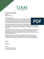 jim evans letter of recommendation