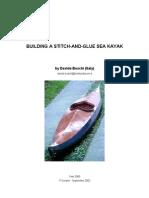 Building a Stitch and Glue Sea Kayak - Boschi 2000