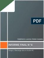 Informe Final de Laboratorio de Circuitos Electricos I N°6