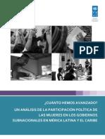 Estudio Participacion Politca de Mujeres en El Ambito Subnacional Esp