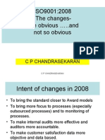 ISO 9001 Obvious and Not So Obvious Changes