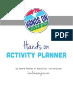 Hands on Activities Planner 2013