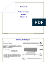 ECE6450L11-Etching Especially Plasma Etching