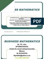 23 July Business Mathematics
