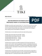 Media Release Tiki Wines