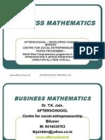 30 July Business Mathematics