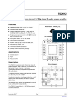 Datasheet TS2012 Audio Amplifier