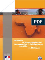 Modes d'appropriation innovants du téléphone mobile en Afrique - Annie Chéneau - 2010