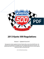 2013 Kyoto 500 Rules Book