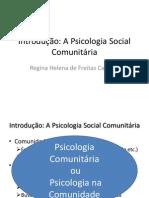 Aula 1 Introdução a psicologia comunitária
