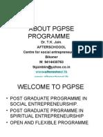 Pgpse Programme