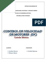 Control de Velocidad de Motores Electricos