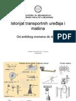 Istorija Transportnih uredjaja