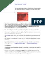 Película fotográfica y proceso químico del revelado