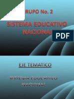 Grupo 2 Sistema Educativo Nacional