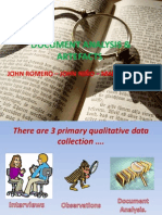Document Analysis & Artefacts