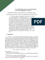 Nonparametric Estimation of Scalar