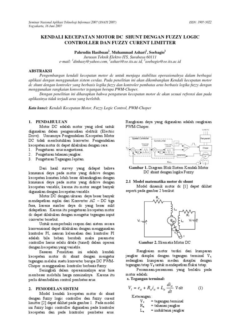 Kendali Motor Dc Dengan Fuzzy Logic Ac Control Circuits Plcdoc Online Shop